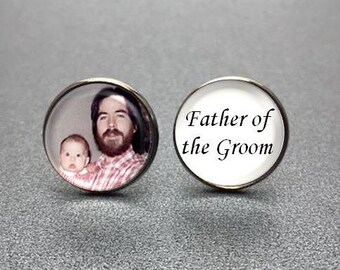 Father of the Groom Cufflinks, personalized cufflinks