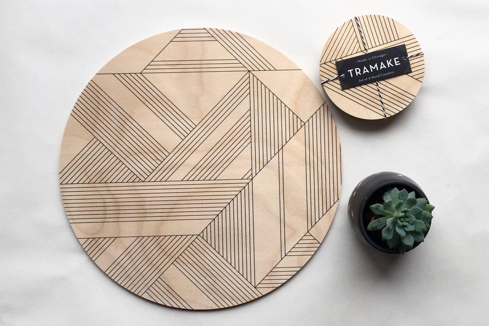 support plaque dessous de plat g om trique dessous de plat. Black Bedroom Furniture Sets. Home Design Ideas