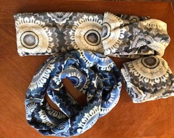Fleece Infinity Scarf, neck warmer cowl, perfect gift fashion scarf