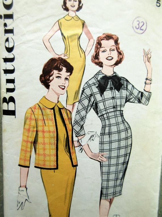 Jahrgang Butt 9180 Schnittmuster Etuikleid 1960er Jahre