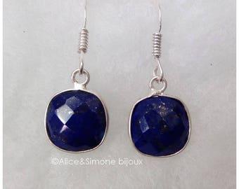 Lapis lazuli earrings Silver earrings / handcrafted