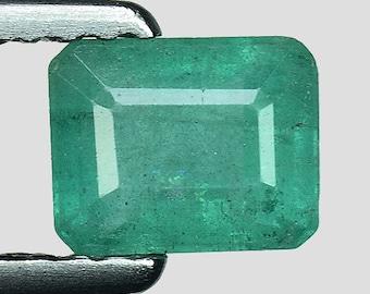 0.74cts Green Emerald Cut Emerald Natural Loose Gemstone