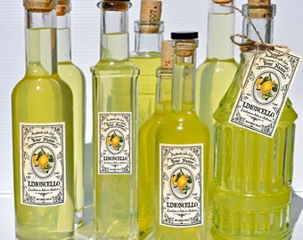 CUSTOMIZED Limoncello Labels Limoncello Canning Labels Download DIGITAL Limoncello Wedding Tags Limoncello Tall Specialty Bottle Labels