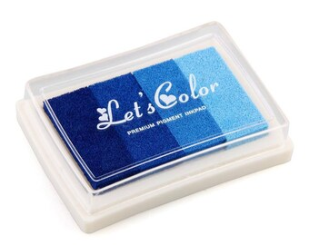 ink blue gradient scrapbooking