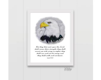 Isaiah 40:31 Eagle They that wait upon the Lord Instant Download