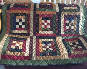 Handmade twin quilt- couch quilt