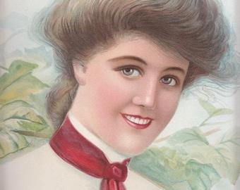 Vintage Gibson girl-type 1906