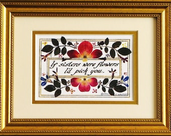 Sisters gift for sisters gift for friend inspirational wall art