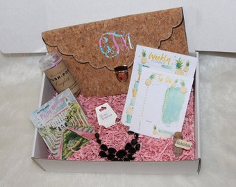 Lilly Pulitzer inspired monogram monthly subscription box- JANUARY