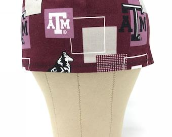 Texas A&M University Scrub Hat / Surgical Hats / Skull Caps / Chef Cap / Surgery / Chef's Cap / Chemo Hats / Men's Gift Ideas