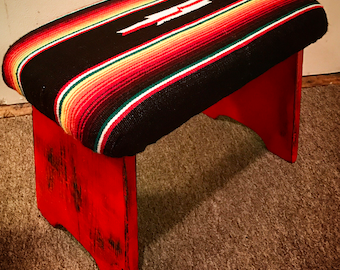 Serape bench