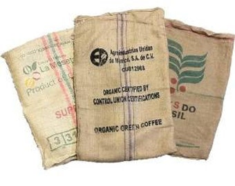 25 Coffee Bean Burlap Bags - Shipped to Peter Russell