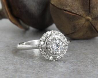 Diamond Engagement Ring, 14k Gold Diamond Ring, White Gold Diamond Ring, Unique Engagement Ring, Diamond Gold Ring, Unique Diamond ring.