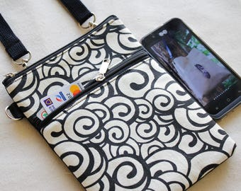 Small cross-body bag, Passport bag, Small travel bag, Travel cell phone purse