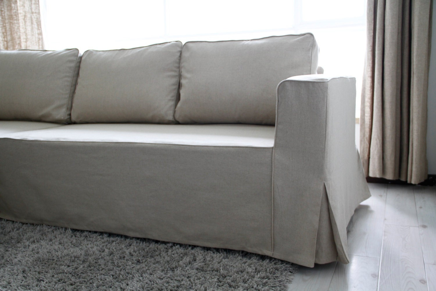 custom ikea manstad sofa bed cover loose fit style in liege