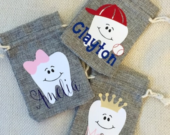 Custom Tooth Fairy Bag - Personalized Tooth Fairy Keepsake, Tooth Fairy Pouch, Tooth Fairy Sack, Tooth Fairy Bag, Gift For Kids