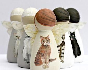 Personalised Cat Angel - Personalised Cat Gift - Loss of a Cat Gift - Cat Memorial - Death of a Cat Gift - Cat Remembrance - Cat Bereavement