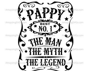 Pappy Man Myth Legend svg Fathers Day svg Man Myth Legend svg Grandfather svg Grandpa svg Pappy tshirt svg Pappy Fathers Day svg