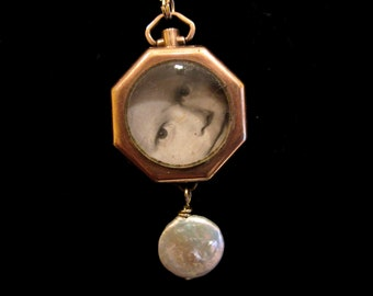 Window to My Heart - Vintage Locket Necklace