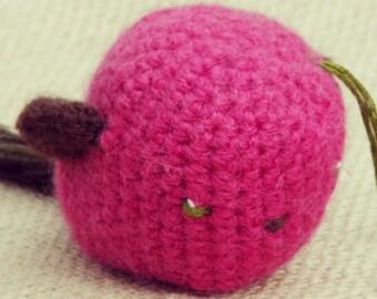 Pink Amigurumi Crochet Bird - Peacock Feather