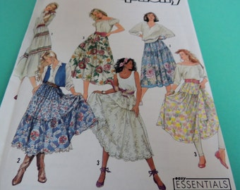 Simplicity 9737 16 to 24 Skirt and Petticoat pattern Uncut