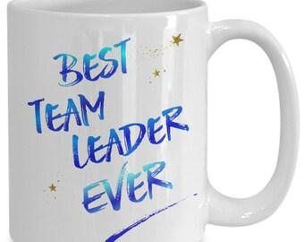 Team Leader mok-Team leider cadeau – beste teamleider – promotie Gift-waardering Gift