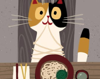Kitty loves UDON