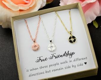 Graduation gifts Compass Necklace Best Friend Gift  Best Friend Necklace  Friendship Necklace  Sisters Necklace  Friendship jewelry gift BFF