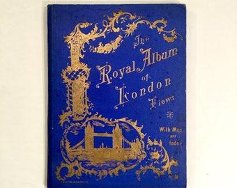 """Antique London Souvenir, """"The Royal Album of London Views""""., Ca: 1880s."""