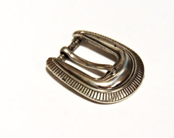 Vintage Silver Plated Belt Buckle, Western Style Brighton Ladies Buckle Replacement, 1993 Taiwan ROC, Leather Metal Hardware itsyourcountry