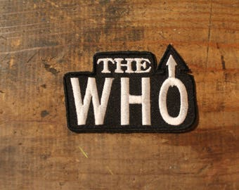 Vintage late 80's NOS Rare THE WHO embroidered Patch dead stock unused