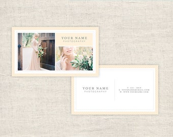 Photography Business Card Template for Photographers and Boutique Wedding Business - INSTANT DOWNLOAD