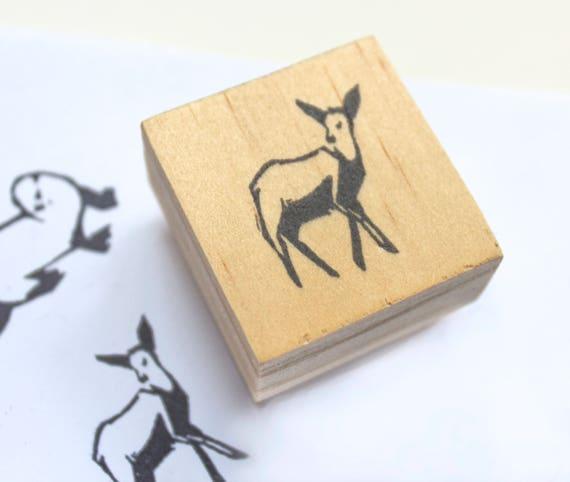 Deer Rubber Stamp Doe Party Favor Gifts
