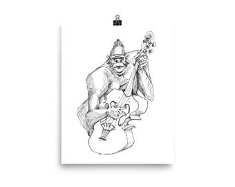 Gorilla Bass - 8x10 Print