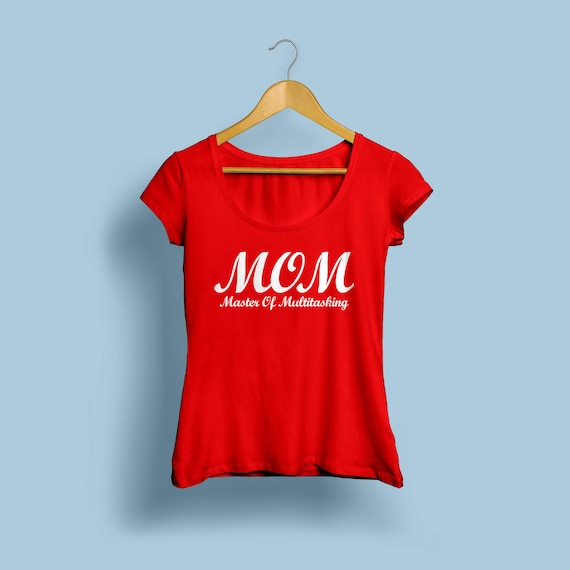 MOM Master Of Multitasking Womens Shirt  S-XL Crew and Vneck Available