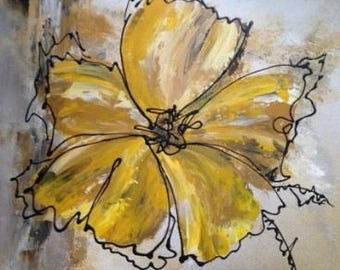 Fabric: yellow and Brown flowers