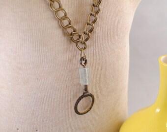 Vintage Drawer Pull Necklace
