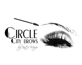 Eyebrow Logo, Eye Brows Logo, Eyelash Logo, Microblading Logo, Microblade Logo, Beauty Logo Design, Eyelashes Logo, Black White logo, design