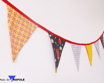 7 Bunting - 'Space' Theme