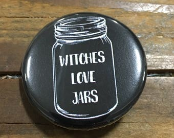 Witches Love Jars Pinback Button or Magnet