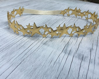 Gold Starburst Halo Headband // Silver Starburst Halo Headband // Silver Star Headband // Gold Star Headband // Shooting Star // Star Chain