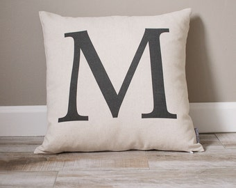 Monogram Pillow   Personalized Pillow   Personalized Gift   Monogrammed Gift   Rustic Home Decor   Home Decor   Dorm Decor   Wedding Gift