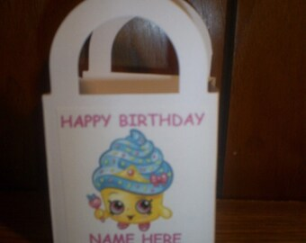 Shopkins personalized Birthday party goody bags / boxes set of 12