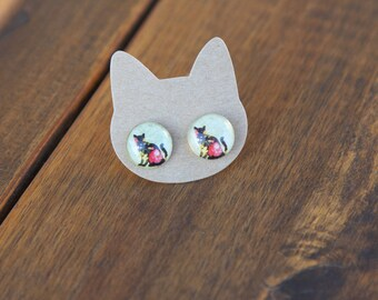 Vintage cat earrings