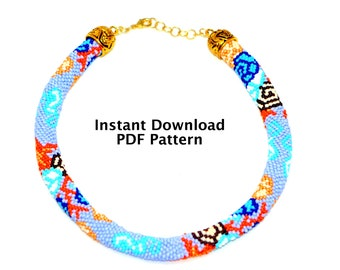 "Bead Crochet Pattern ""Under the Sea"", PDF Tutorial, Bead Crochet Necklace & Bracelet Pattern, Instant Download, Crafter's Gift, DIY Gift"