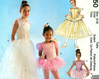 McCall's 4150 Girls Ballerina TuTu Dress Costume Pattern Size 3-6