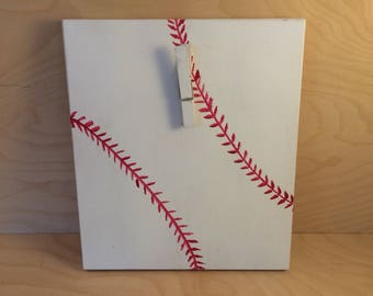 Baseball photo wall hanger