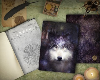 Sacred Wolf Spirit Totem Blank Journal
