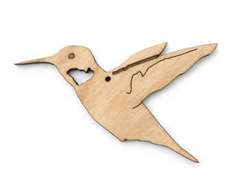 The Hummingbird Ornament- Made in the USA with sustainably harvested wood! - Timber Green Woods.