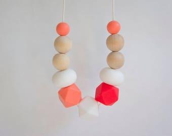 Teething Necklace | Silicone Necklace | Sensory Necklace | Baby Shower Gift | Breastfeeding Beads | Nursing Necklace | New Mum Gift | Baby